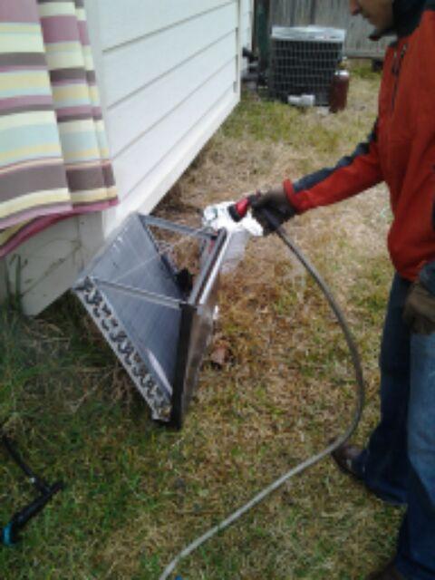 Converse, TX - evaporator clean