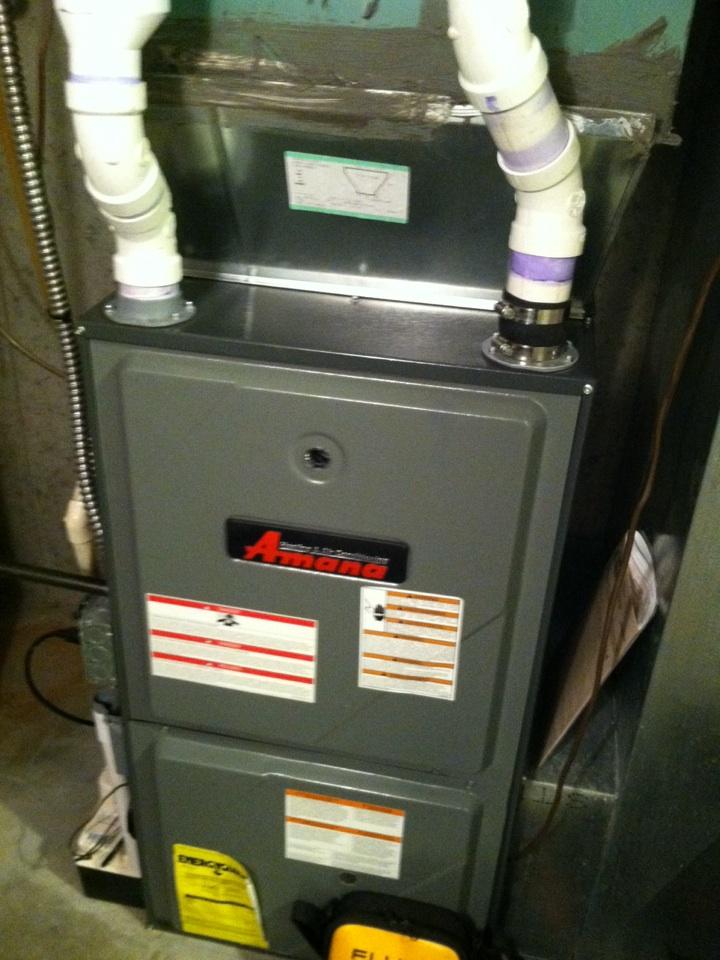 Spokane, WA - Performing heat maintenance on an Amana furnace.  Customer purchased loyalist contract