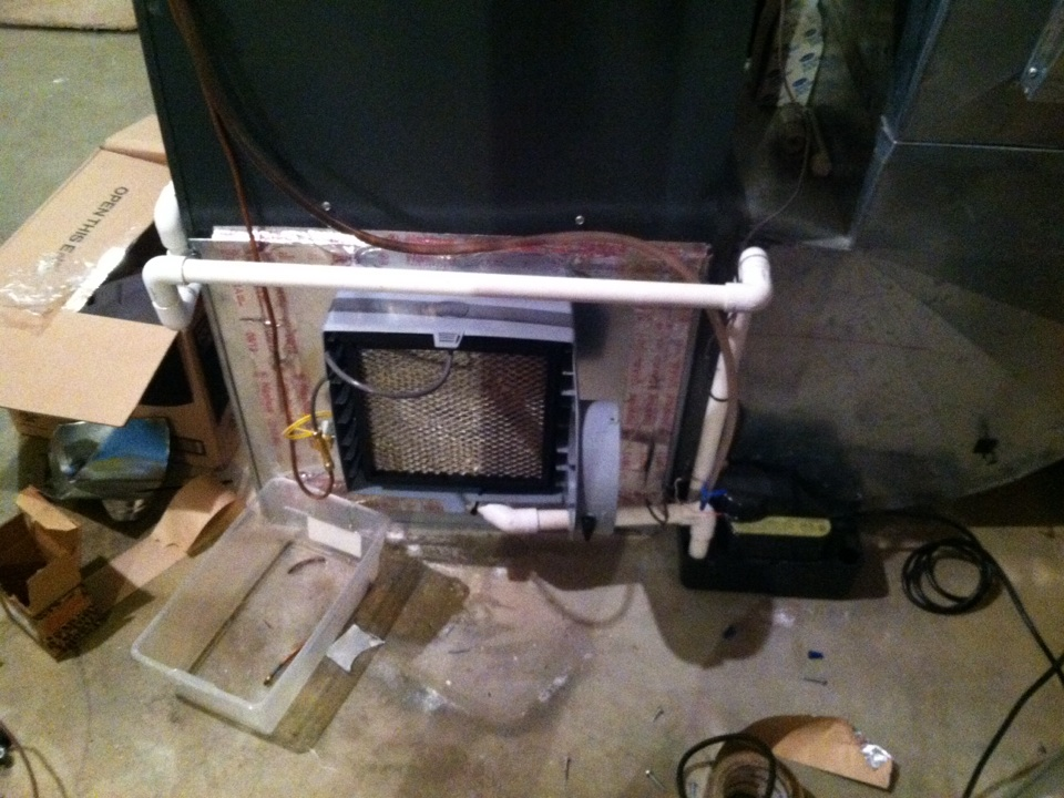 Mead, WA - Installing aprilaire humidifier