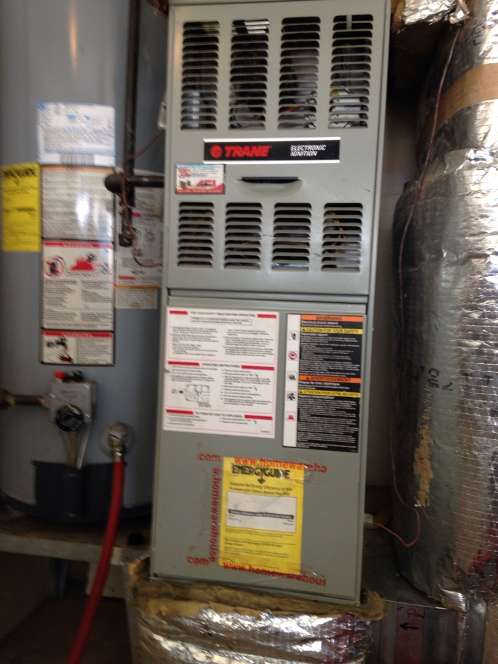Liberty Lake, WA - Preventive maintenance on a Trane Furnace and water heater in Liberty Lake, WA.