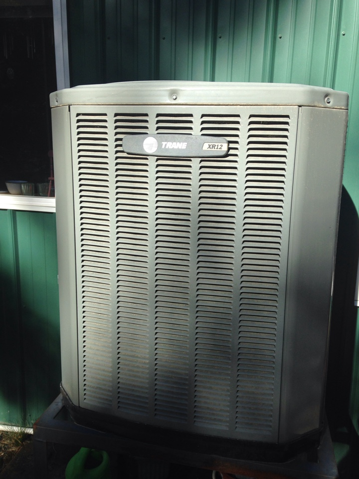 Saint Maries, ID - Preventive maintenance on heating and cooling on Trane heat pump.