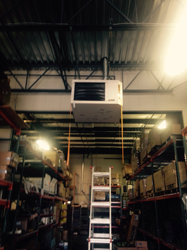 Liberty Lake, WA - Performing maintenance on Reznor unit heaters