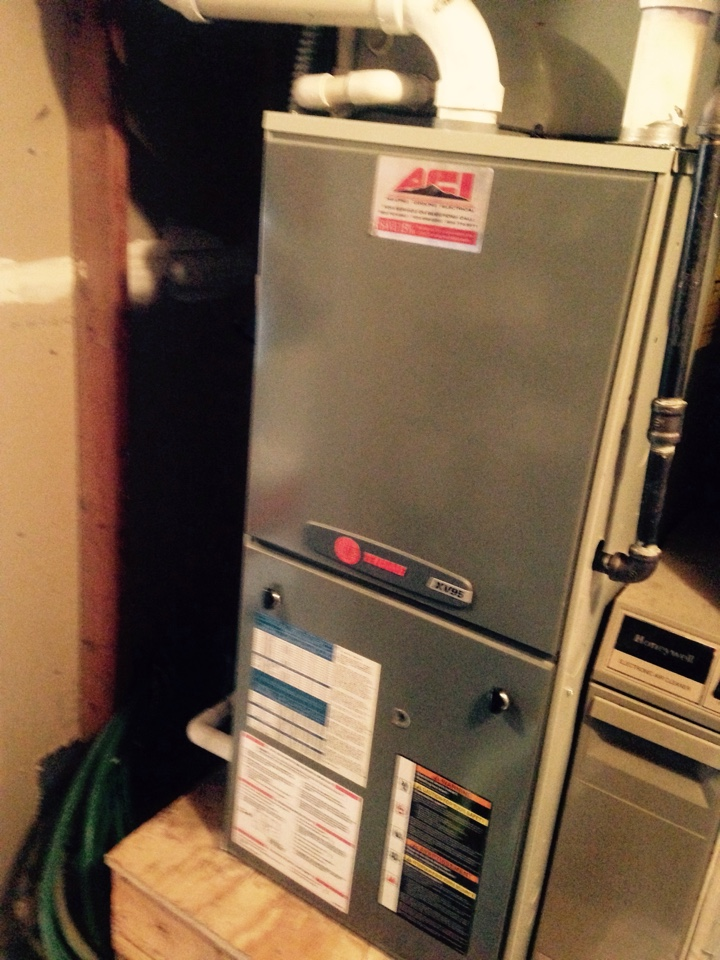 Valleyford, WA - Performing maintenance on Trane heat pump and propane Trane furnace