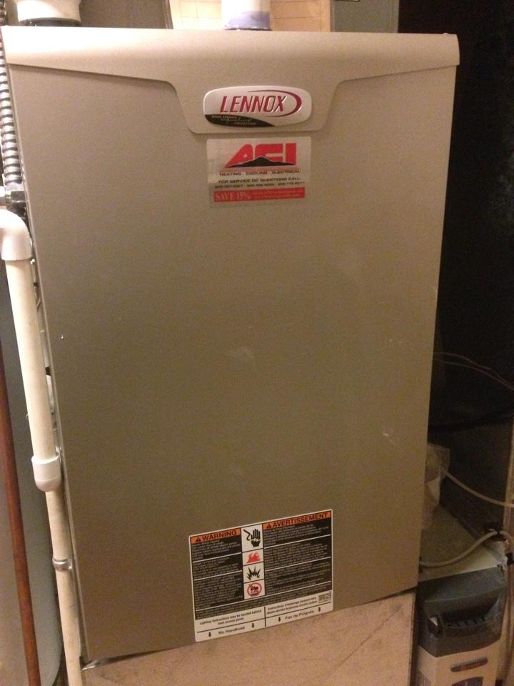 Rathdrum, ID - Preventive maintenance on a Lennox furnace.