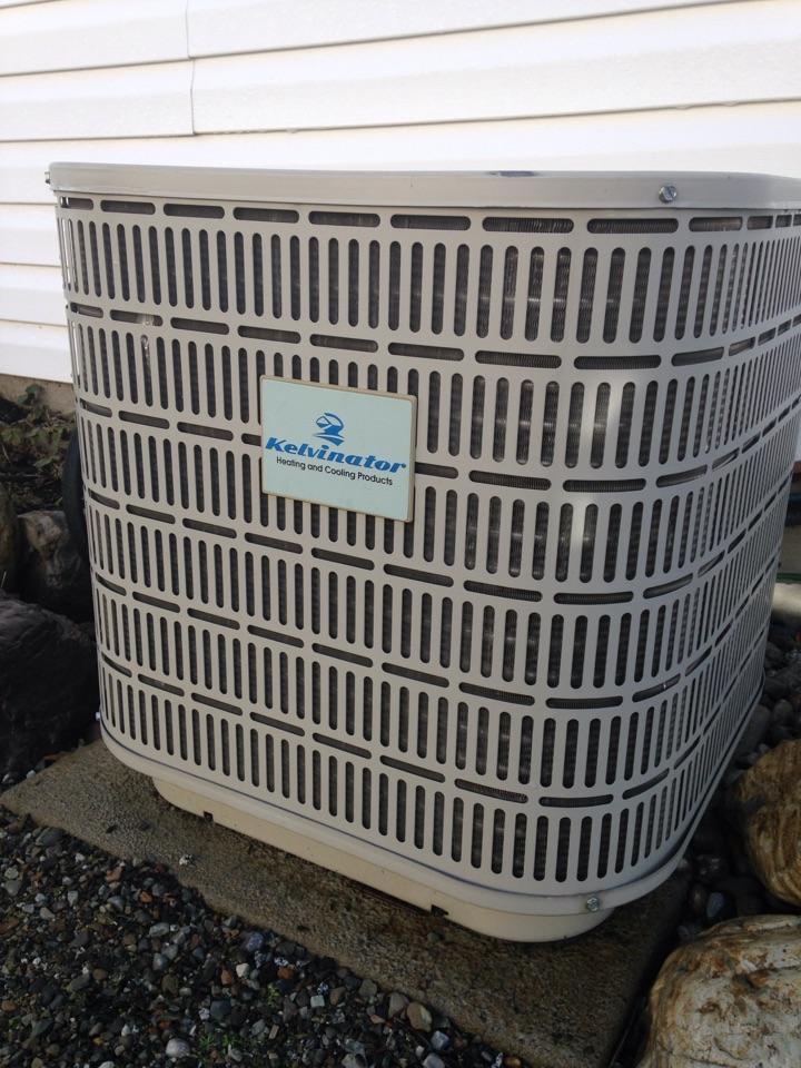 Rathdrum, ID - Preventive maintenance on a Kelvinator air conditioner.