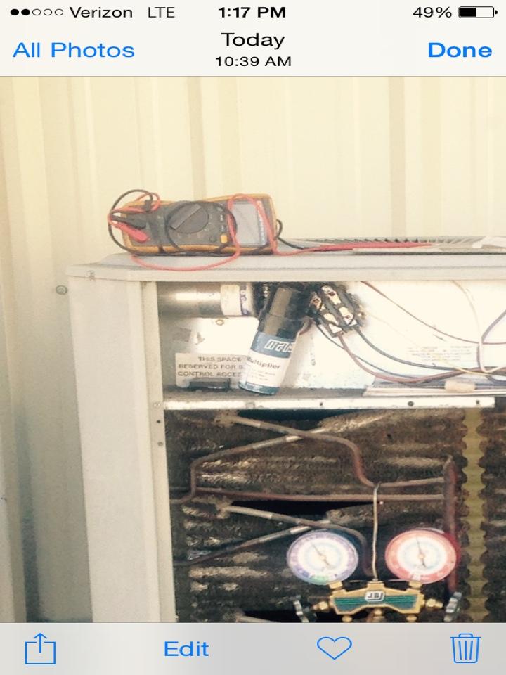 Laclede, ID - Installed hard start kit on Trane  AC condenser