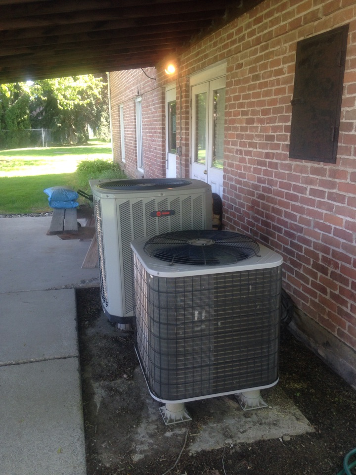 Sandpoint, ID - Performing cooling maintenance on Trane and Carrier equipment