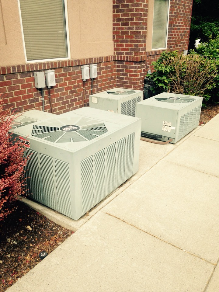 Spokane Valley, WA - Performing cooling maintenance on Ruud air conditioners