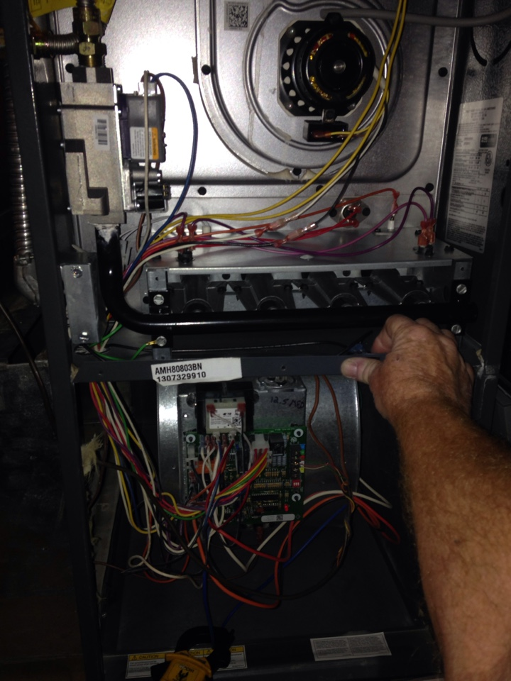 Hayden, ID - Preventive maintenance on an Amana furnace.