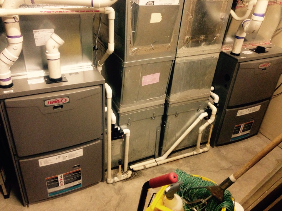 Coeur D Alene, ID - Performing maintenance on Lennox gas forced air units