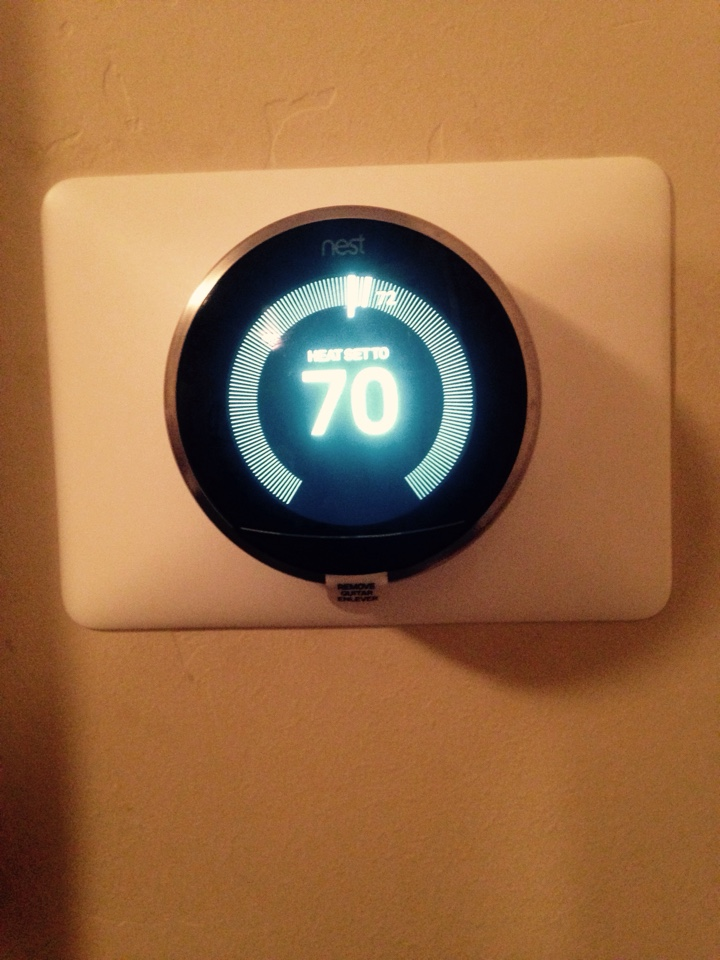 Hayden, ID - Performing maintenance on Rheem units and installed Nest thermostats