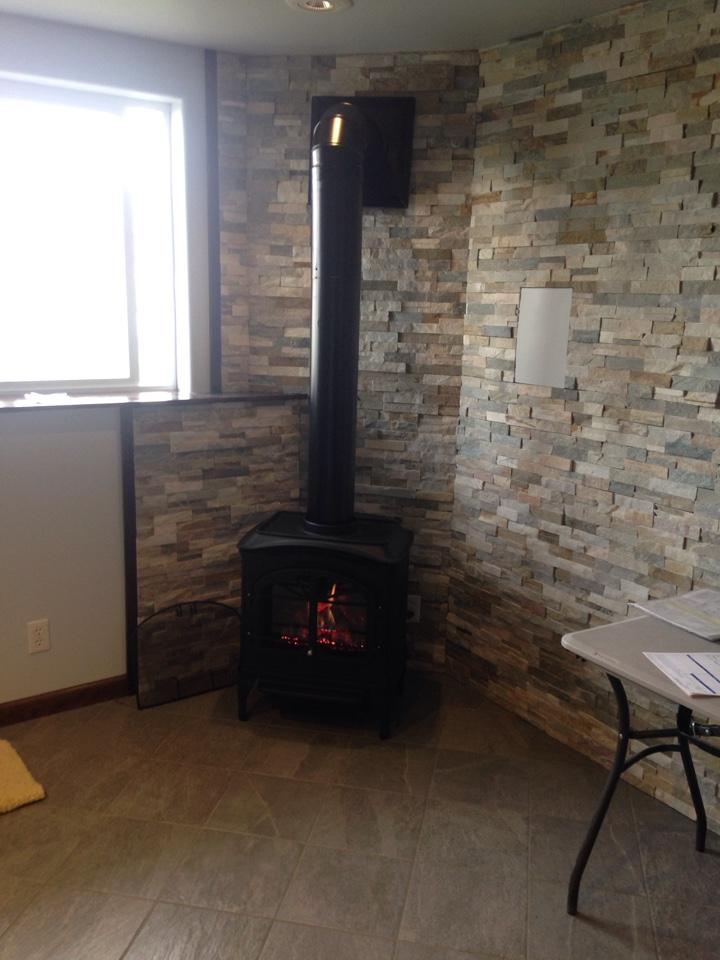 Hayden, ID - Installing heat & glow stove