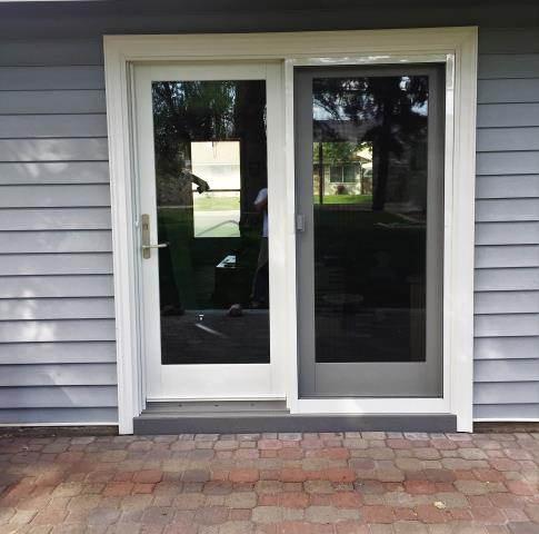 Richland, WA - A beautiful Patio Door was installed to replace original sliding door of 1950s home.