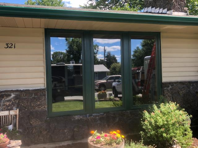 Spokane Valley, WA - Renewal by Andersen replaced this home single paned wood windows because they were drafty, old, and inefficient. We installed 8 of our Fibrex Framed Picture Windows which will provide increased energy efficiency in both the warm and the cold months.