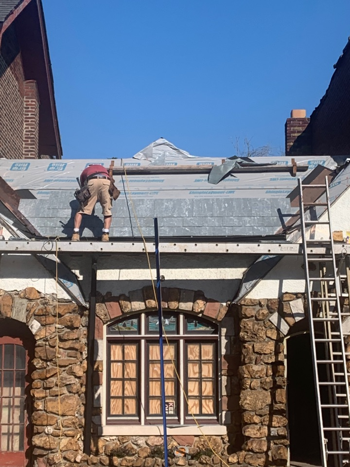 St. Louis, MO - Slate roof install by pro installations another quality professional job