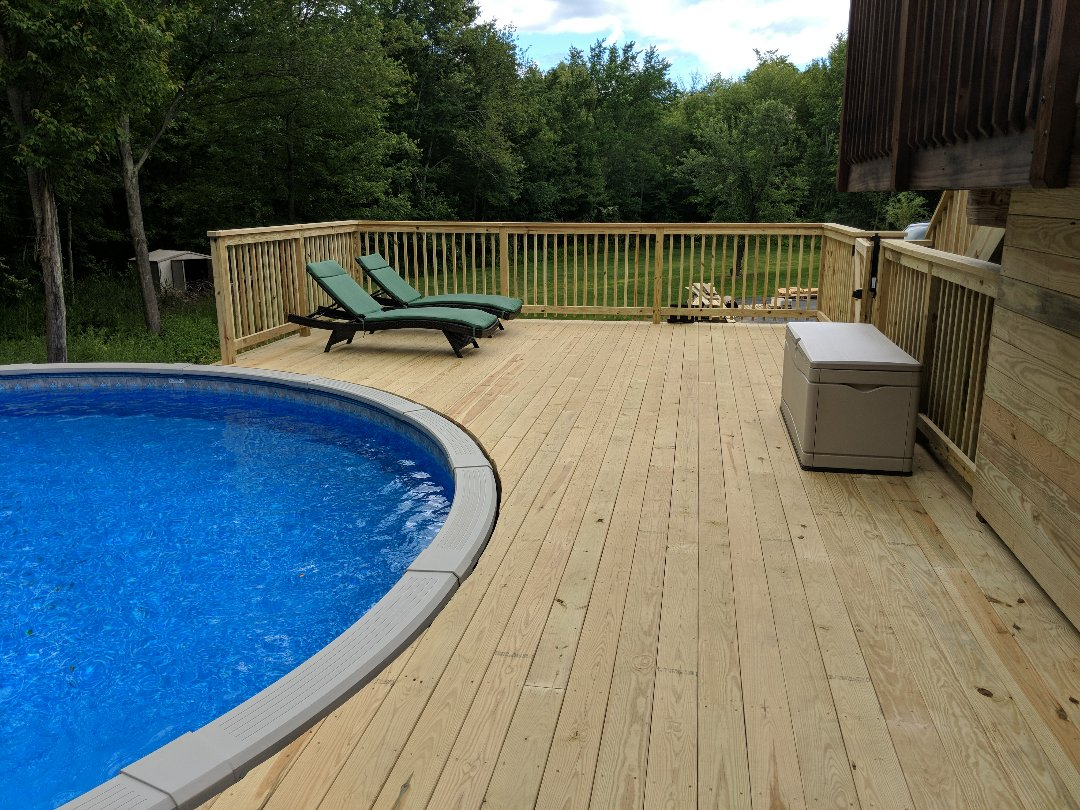 "Chester, NY - Ready to roll into Summer!Big & Beautiful pool deck.  For all of your decking needs...""Go with The PROS"""