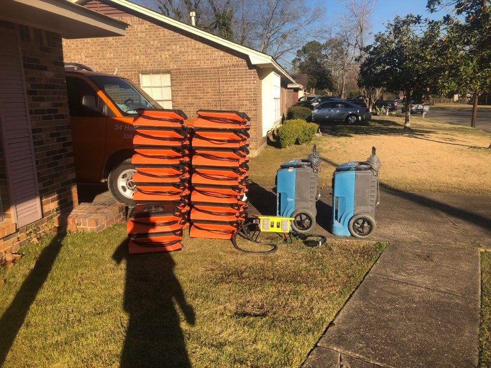 Montgomery, AL - Protek picking up equipment and debris from a water mitigation for a satisfied customer in Montgomery.