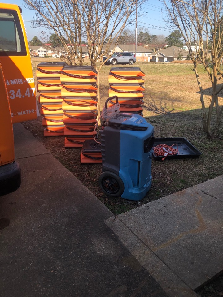 Millbrook, AL - Protek picking up equipment from a big water mitigation for a satisfied customer in Millbrook.