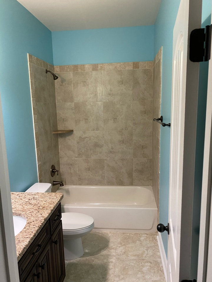 Montgomery, AL - Protek Restoration Construction team has wrapped up making this water damaged bathroom look just like new.