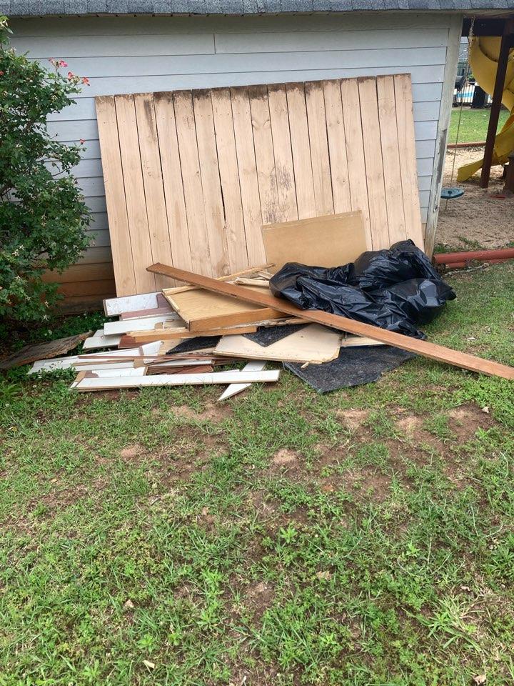 Prattville, AL - Protek picking up debris from a water mitigation for a satisfied customer in Prattville.
