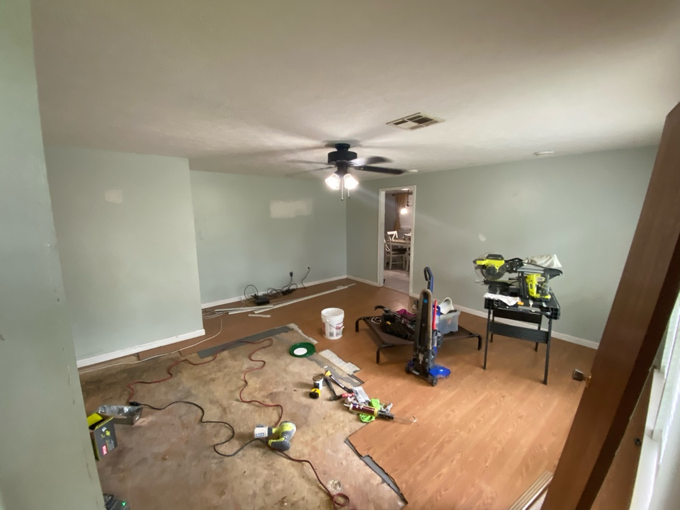 Prattville, AL - This living room may look like a war zone at the moment, but when Protek Restoration is finished, it will look brand new!