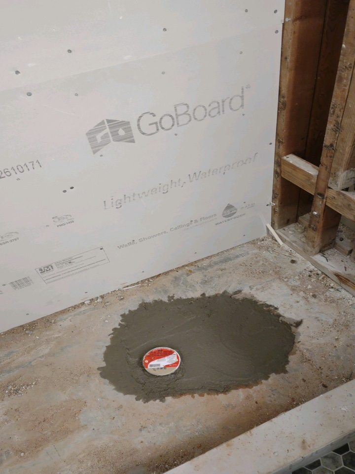Prattville, AL - Protek Restoration has to bust up this slab in a shower in a Prattville home. But we replaced the old cast iron p trap and drain and replaced it with a new pvc one. Now on to the next faze which is laying down some mud and putting the tile in!