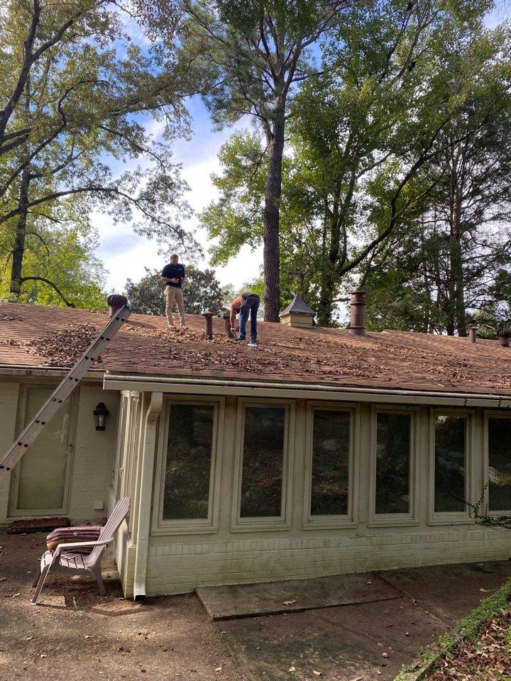 Prattville, AL - Fixing a roof at a home in Prattville Alabama done by Protek restoration LLC.  Storm Damage Clean-up Service Prattville, AL