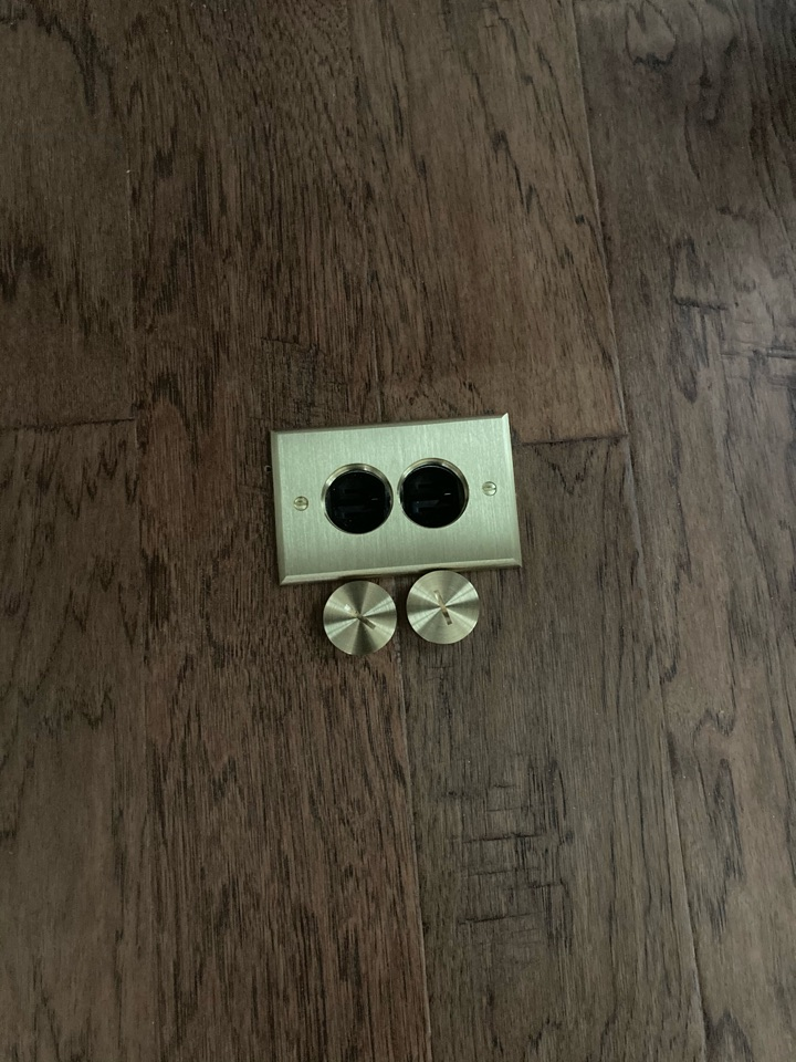 Installed 2 floor outlets