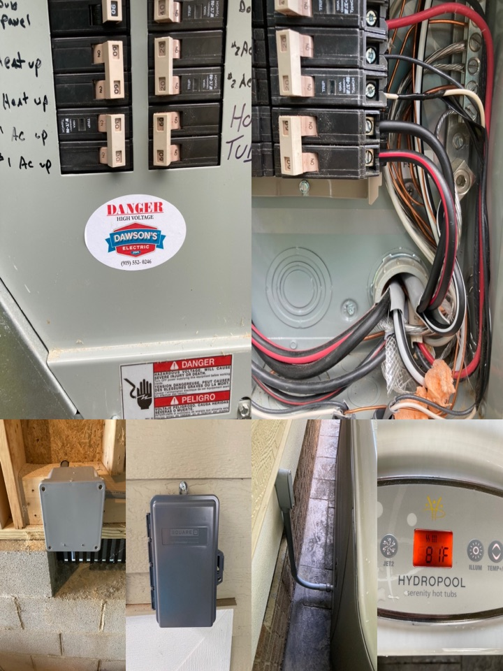 Electrician running power to a hot tub.