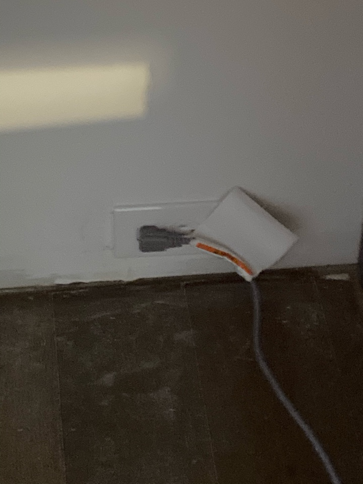 Electrician repairing non working appliance circuit.