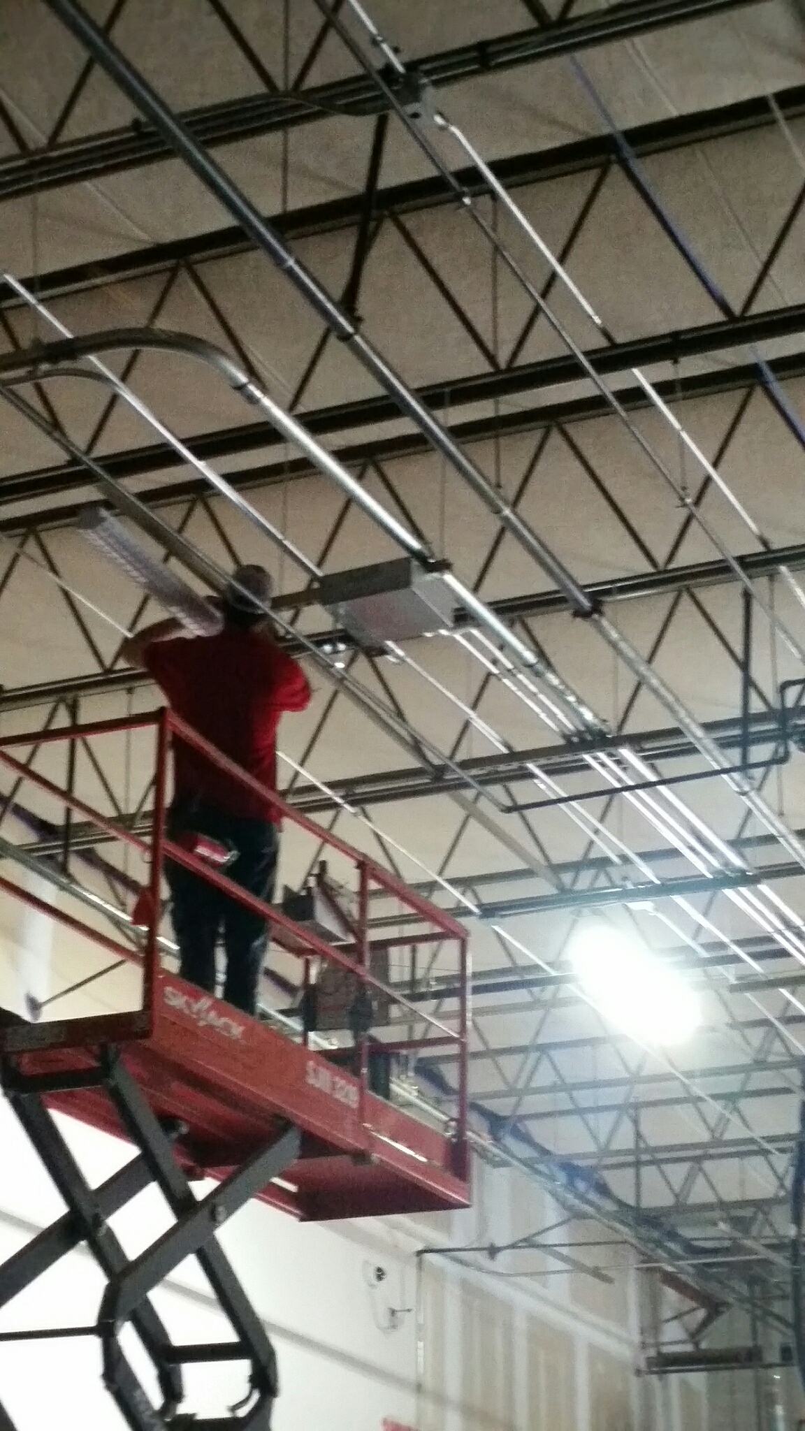 Morrisville, NC - New LED fixture installation.