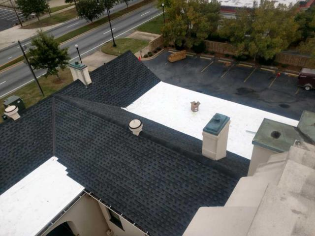 Columbus, GA - New Roof installed - Columbus - TPO and GAF Architectural shingles