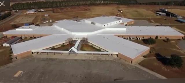 Reidsville, GA - Commercial - Re-Roof - Carlisle PVC membrane - Tattnall County