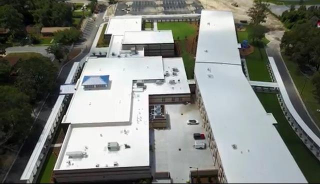 Savannah, GA - New PVC Roof - Juliette Gordon Low Elementary School - Savannah
