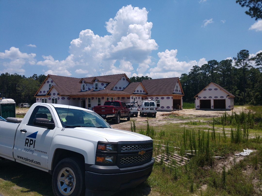Richmond Hill, GA - Residential roof installation on new construction in Richmond Hill, GA.