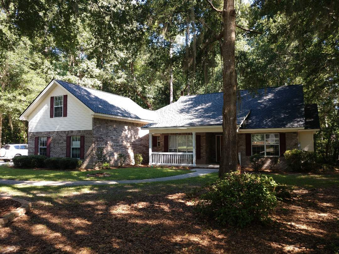 Richmond Hill, GA - New CertainTeed architectural (charcoal black) roof.