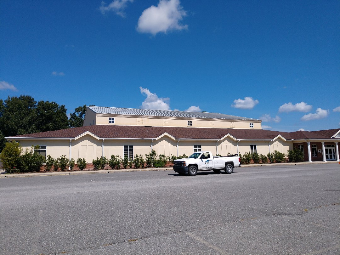 Richmond Hill, GA - First Baptist Church  New CertainTeed architectural (Hickory) roof.