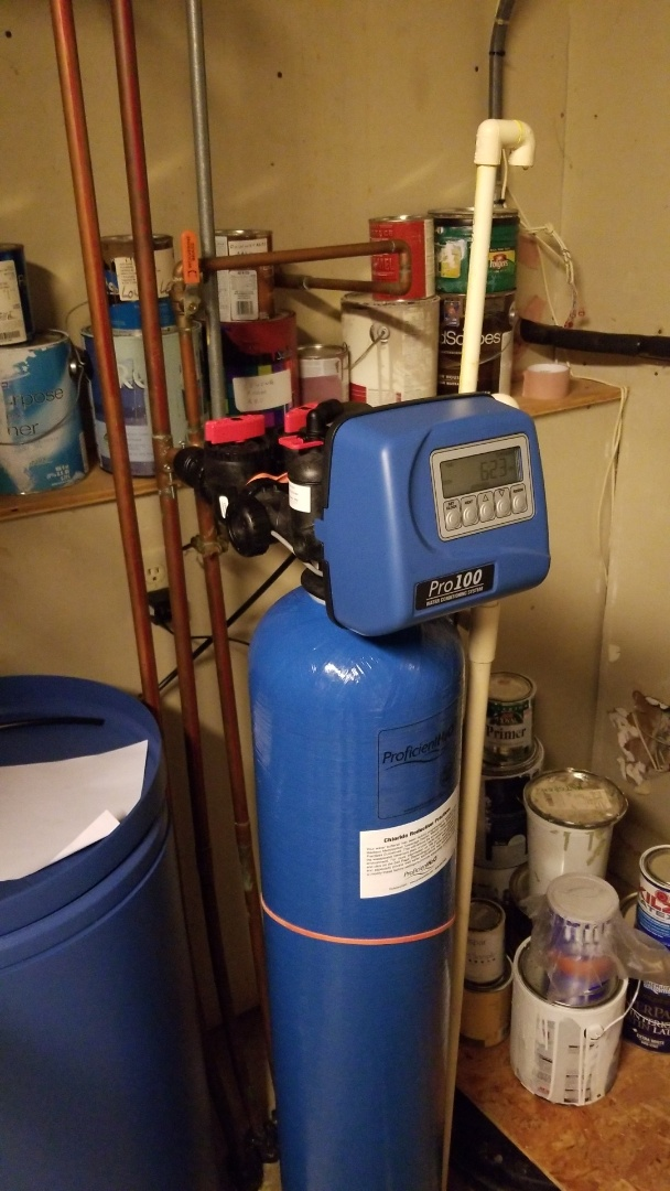 Waunakee, WI - Replaced water softener.  Installed Hellenbrand Pro 100 softener.