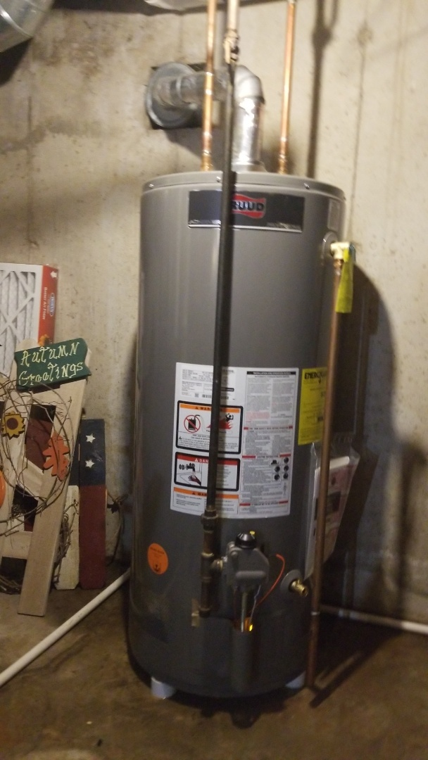 Madison, WI - Replaced chimney vevt water heater.  40 gallon Ruud Pro Achiever.
