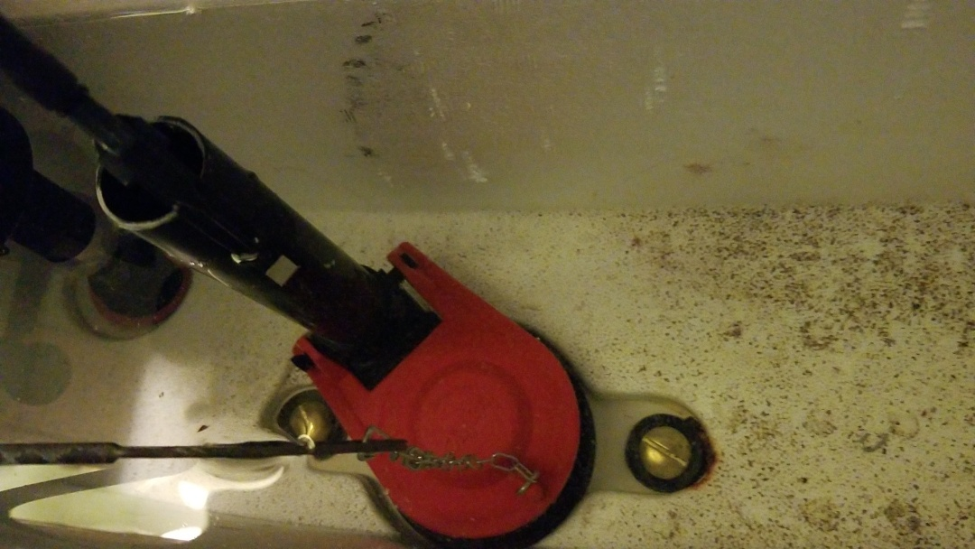 DeForest, WI - Replaced flush valve on a Crane toilet tank.