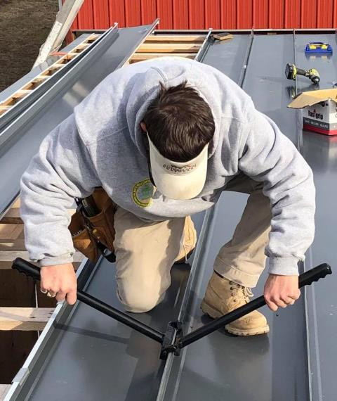 "Franklin, TN - Fabrication and Installation of 24GA 2"" double lock standing seam roof system."