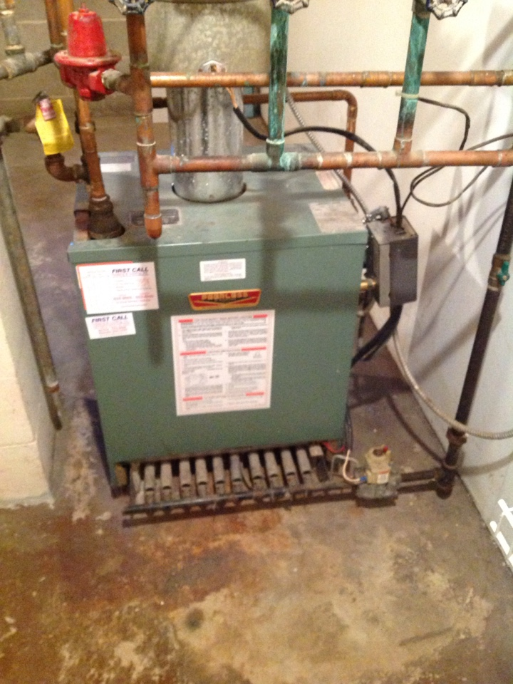 Waterford, WI - Boiler repair on a 20-year-old Peerless boiler. Vent hood temperature switch was malfunctioning.
