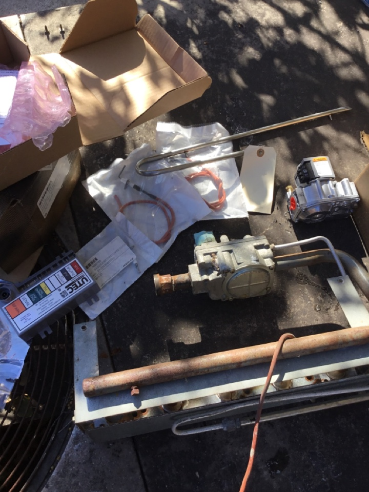 Kenosha, WI - York rooftop repair, new gas valve, ignition module and sensor with spark rod