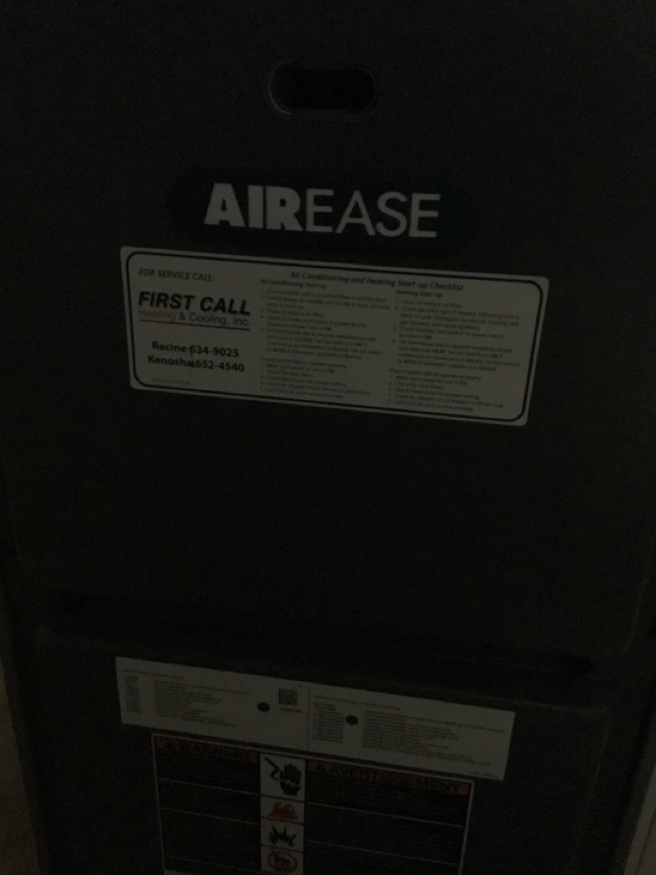 Franklin, WI - Airease furnace tune up