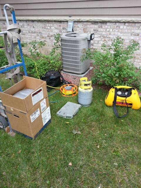 Kansasville, WI - Compressor change out for janitrol cooling system.