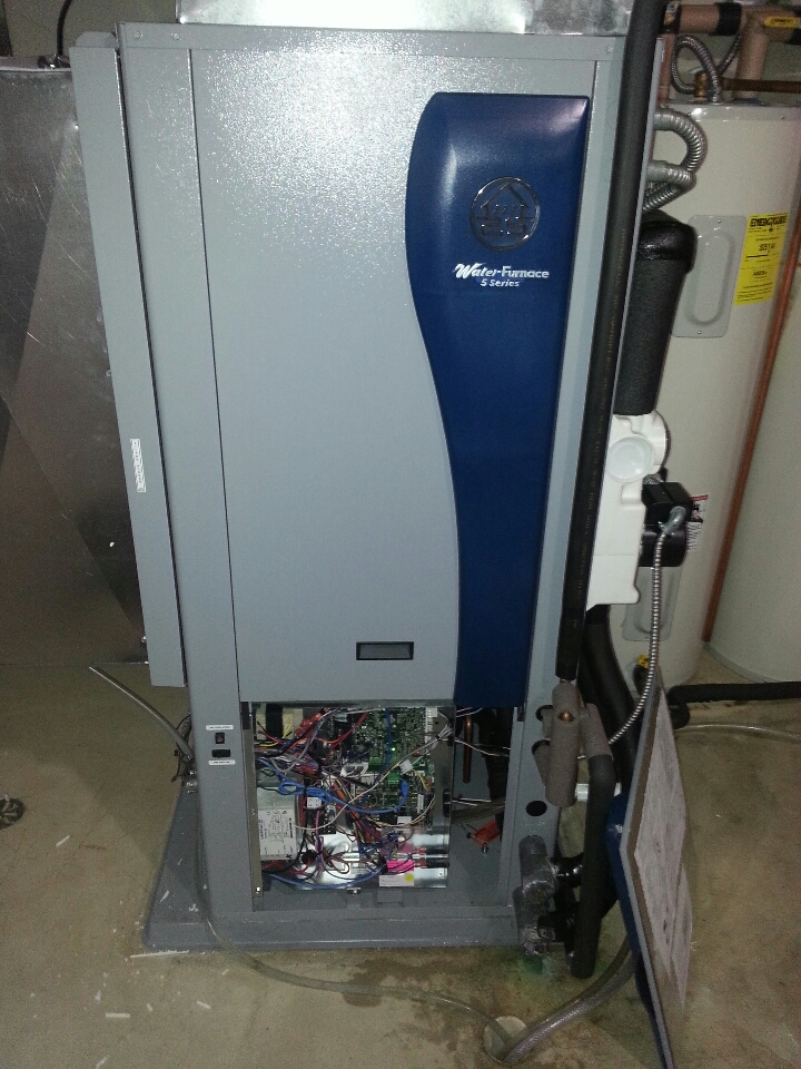 Waterford, WI - Water Furnace geothermal heat pump 5 series tune up. filled ground loop and checked temperatures . all running well at this time
