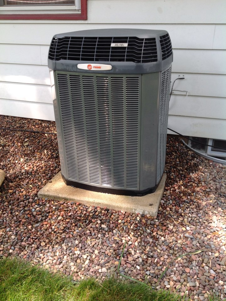 Greendale, WI - Annual maintenance on a Trane heat pump system. Getting it checked and cleaned for the summer.