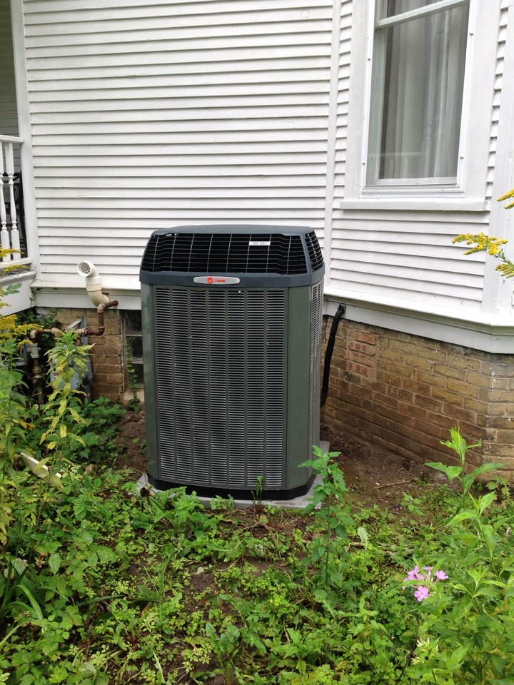 Franksville, WI - Installed a Trane Modulating furnace, Honeywell media cabinet, Trane 950 Hi-def thermostat and 18 seer 2 stage AC. System qualified for the WE Energies Focus on Energy rebate