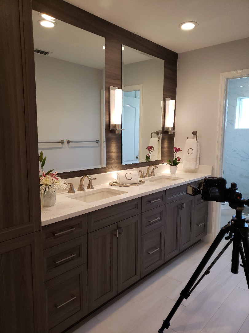 Palm City, FL - Taking pictures with our favorite photographer Ron of another beautifully remodeled bathroom!