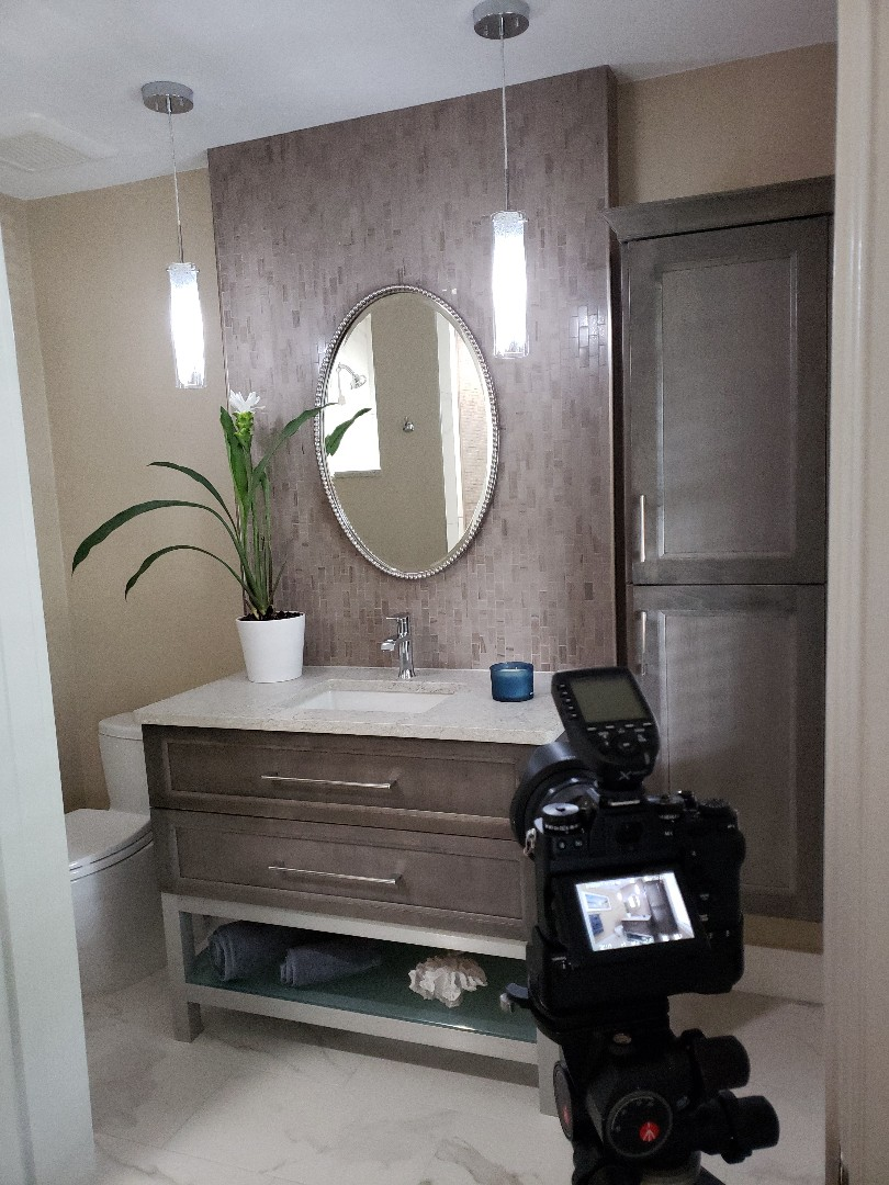 Stuart, FL - Working again with our favorite photographer Ron on another beautifully designed guest bathroom!